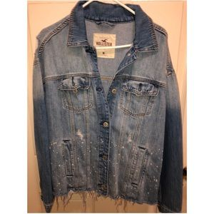 Hollister distressed denim jacket